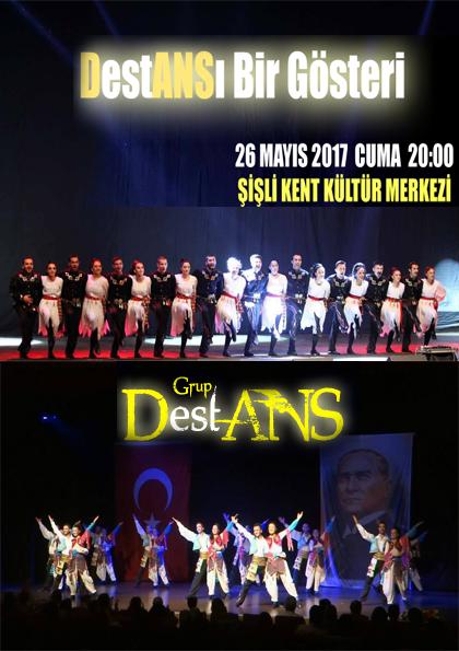 Destan Sanat Halk Dansları Gösterisi Afişi