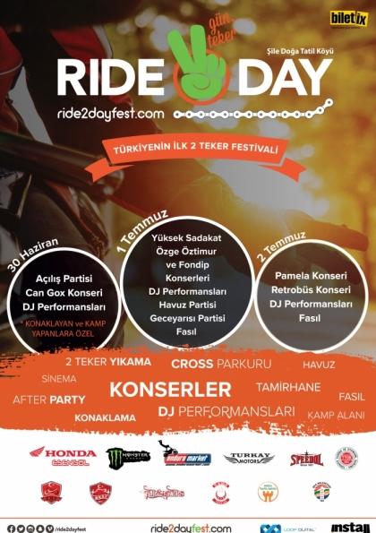 Türkiye'nin İlk 2 Teker Festivali- Ride2Day Afişi
