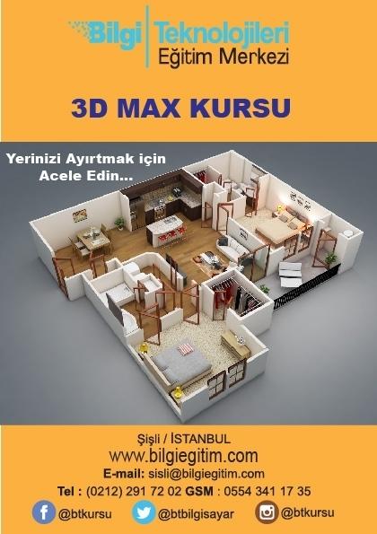 3D Max Kursu Etkinlik Afişi