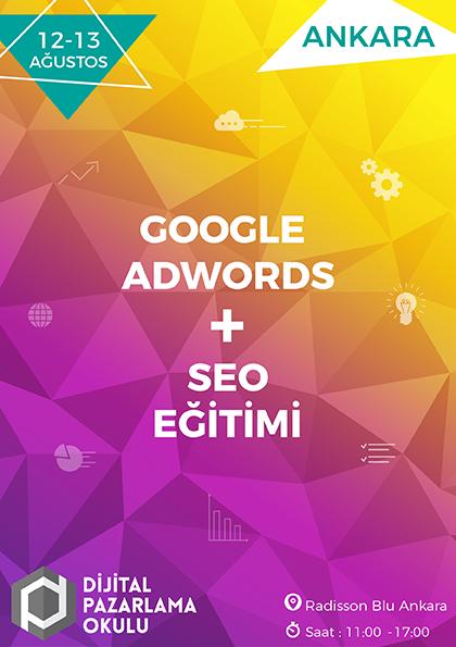 Google AdWords ve SEO Eğitimi [ANKARA] Etkinlik Afişi