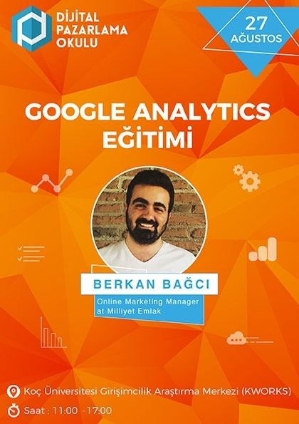 %100 Uygulamalı Google Analytics Eğitimi Etkinlik Afişi