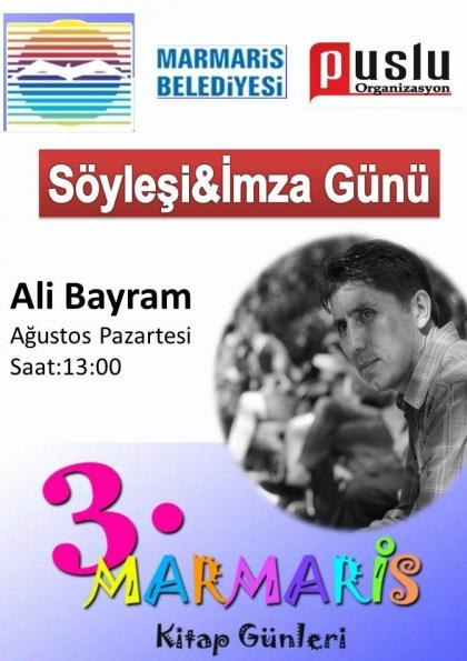 Ali Bayram 3.Marmaris Kitap Günleri Etkinlik Afişi