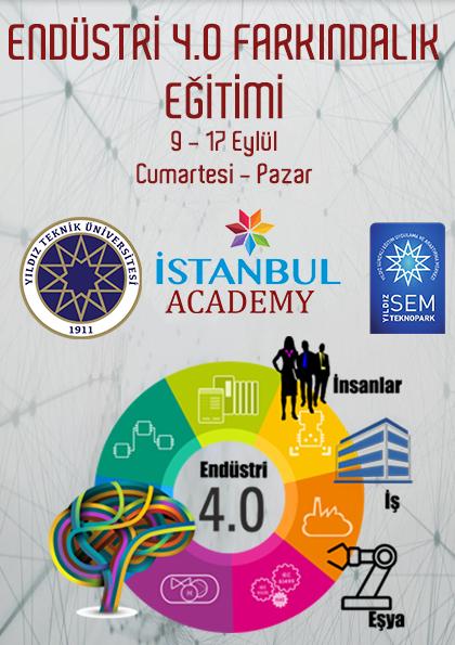 Endüstri 4.0 Farkındalık Eğitimi - YTÜ SEM Etkinlik Afişi