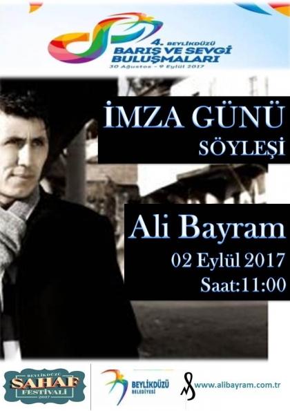 Ali Bayram İmza Günü ve Söyleşi Etkinlik Afişi