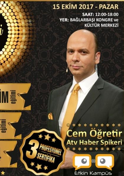 Cem Öğretir ile 3 Sertifikalı İletişim Seminer İstanbul Etkinlik Afişi