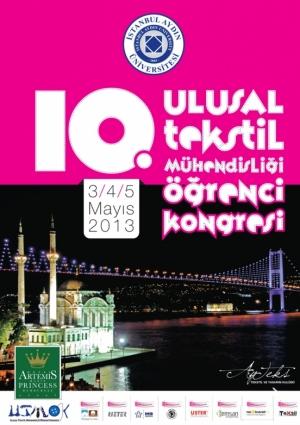 10. Ulusal Tekstil Mühendisliği Öğrenci Kongresi Etkinlik Afişi
