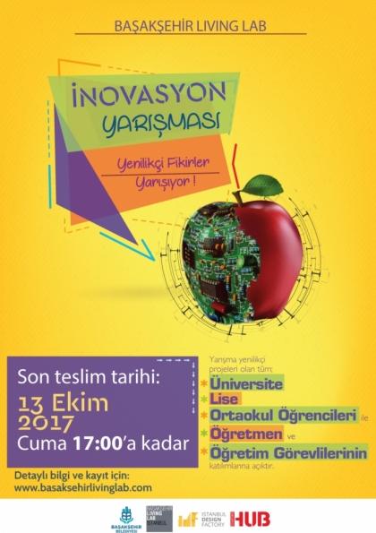 Başakşehir Living Lab İnovasyon Yarışması 2017 Etkinlik Afişi