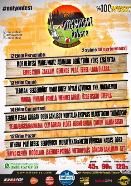 Milyonfest Ankara Etkinlik Afişi