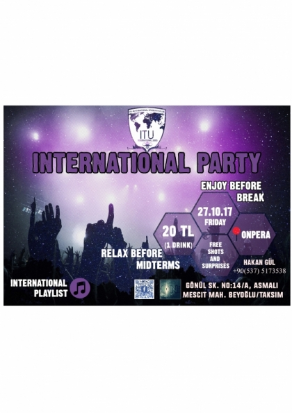 INTERNATIONAL PARTY Afişi