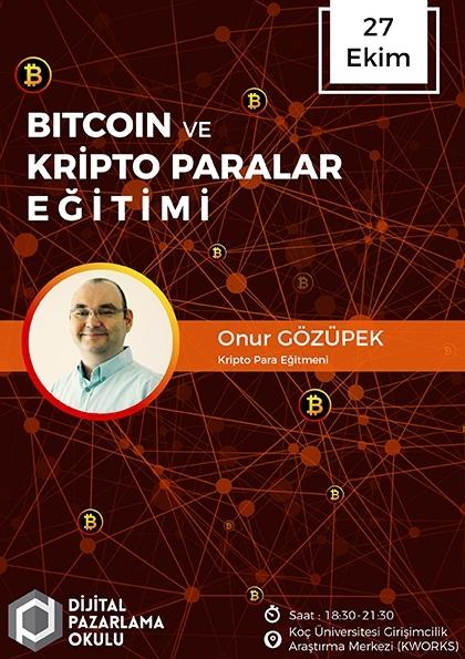 Bitcoin ve Kripto Paralar Eğitimi Etkinlik Afişi