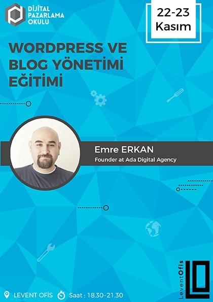 WordPress ve Blog Yönetimi Eğitimi Afişi