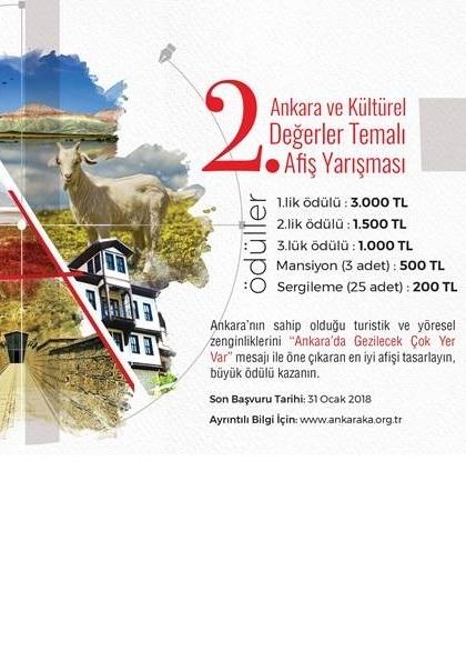 2. Ankara ve Kültürel Değerler Temalı Afiş Yarışması Afişi