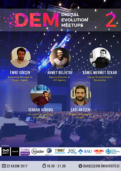 Digital Evolution Meetups (DEM) #2 Etkinlik Afişi