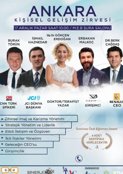 Ankara Kişisel Gelişim Zirvesi Etkinlik Afişi