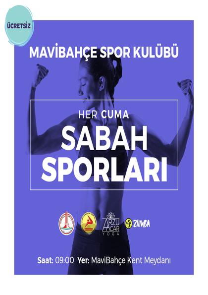 MaviBahçe Spor Kulübü ile Sabah Sporları Afişi