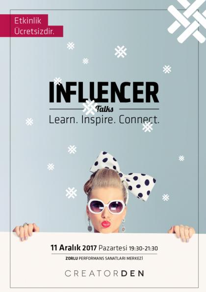 Influencer Talks Vol. VIII Etkinlik Afişi