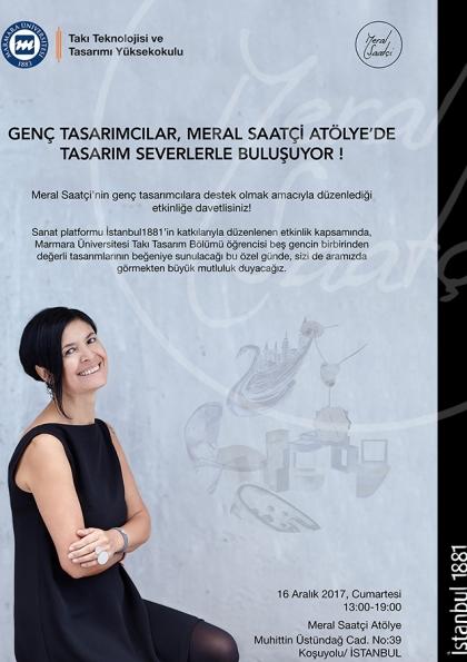 Genç tasarımcılar, Meral Saatçi Atölye'de tasarım severlerle buluşuyor! Afişi