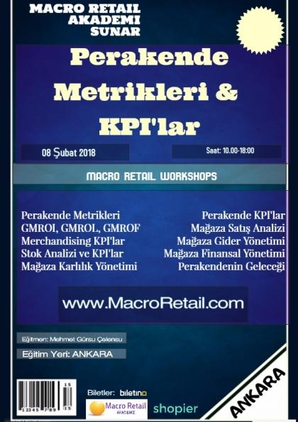 Perakende Metrikleri, Matematiği ve KPI'lar Eğitimi- Ankara Etkinlik Afişi