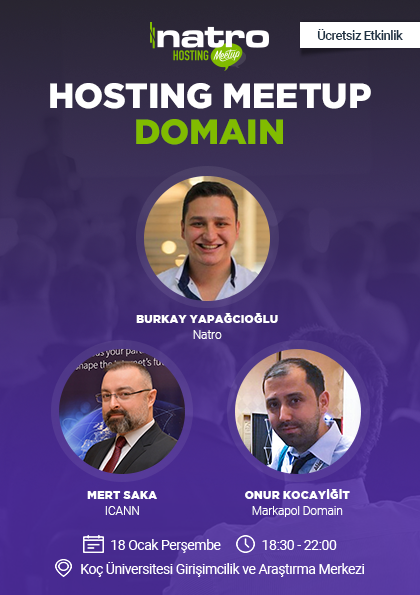 Hosting Meetup   Domain Etkinlik Afişi