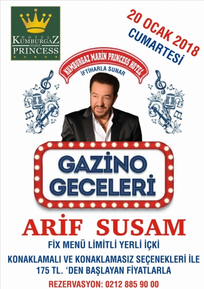 GAZİNO GECELERİ KUMBURGAZ MARIN PRINCESS HOTEL'DE Etkinlik Afişi