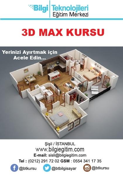 Proje Uygulamalı 3D Max Kursu Afişi
