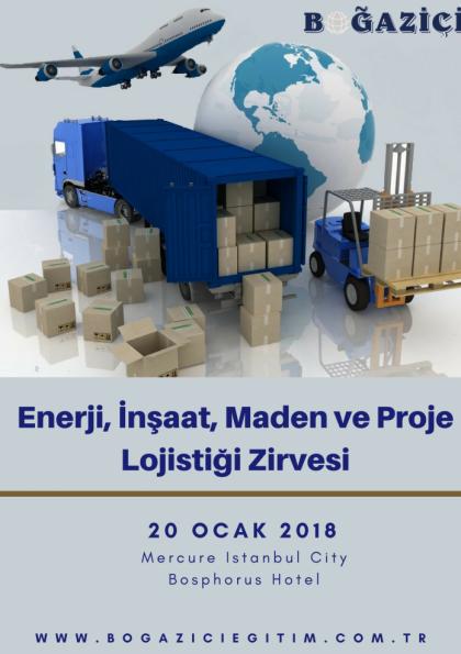Enerji, İnşaat, Maden ve Proje Lojistiği Zirvesi Etkinlik Afişi