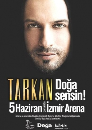 Tarkan İzmir Konseri Etkinlik Afişi