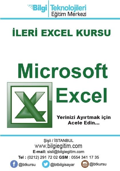 Uygulamalı ve Öğretme Garantili İleri Excel Eğitimi Etkinlik Afişi