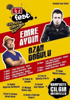 ETİ Fest Emre Aydın Ozan Doğulu Konserleri Etkinlik Afişi