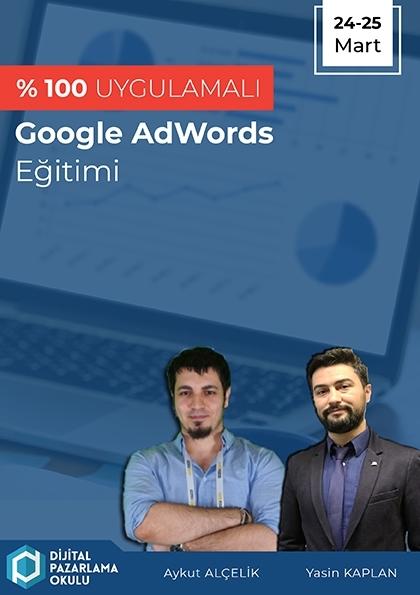 %100 Uygulamalı Google AdWords Eğitimi Etkinlik Afişi