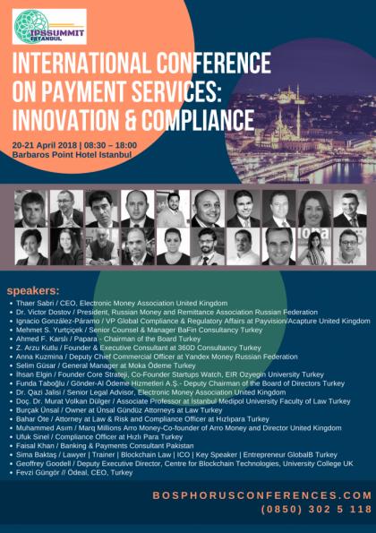 International Conference On Payment Services: Innovation & Compliance / Uluslararası Ödeme Hizmetleri Konferansı: Yenilik ve Uyum Afişi