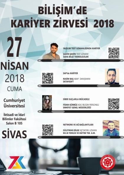 BİLİŞİM'DE KARIYER ZİRVESİ  2018 Afişi