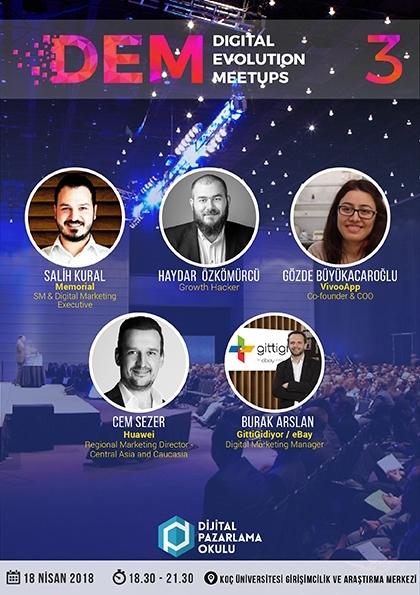 Digital Evolution Meetups (DEM) #3 (Ücretsiz) Etkinlik Afişi