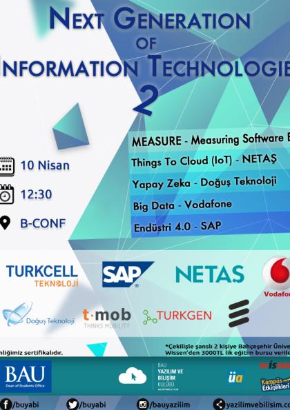 Next Generation of Information Technologies 2 Etkinlik Afişi