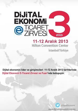 Dijital Ekonomi E-Ticaret Zirvesi 2013 (ertelendi) Etkinlik Afişi