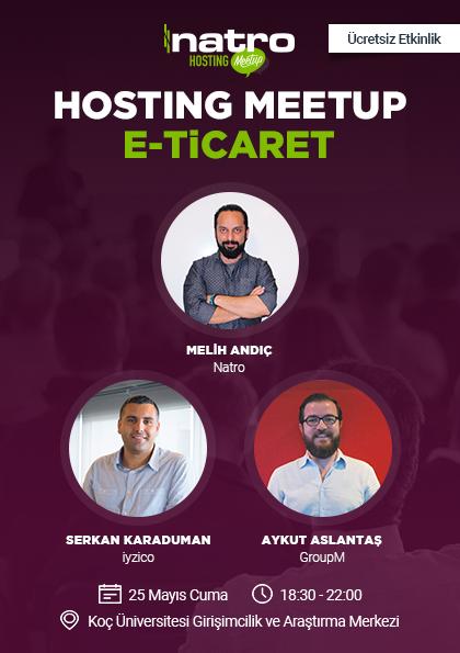 Hosting Meetup | E-ticaret Etkinlik Afişi