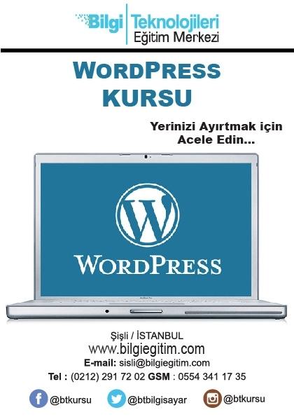 Uygulamalı WordPress Eğitimi Afişi