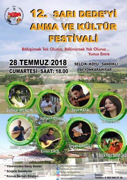 Selçik Köyü 12. Sarı Dede'yi Anma ve Kültür Festivali Etkinlik Afişi