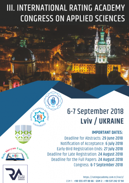 III. International Rating Academy Congress on Applied Sciences (IRAC 2018)