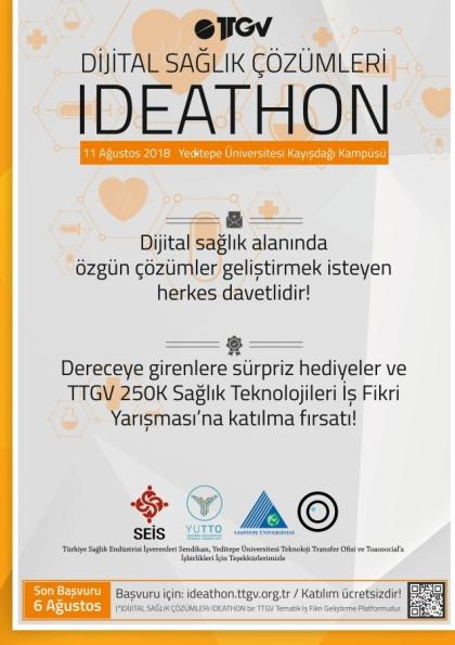 IDEATHON - Dijital Sağlık Çözümleri Etkinlik Afişi