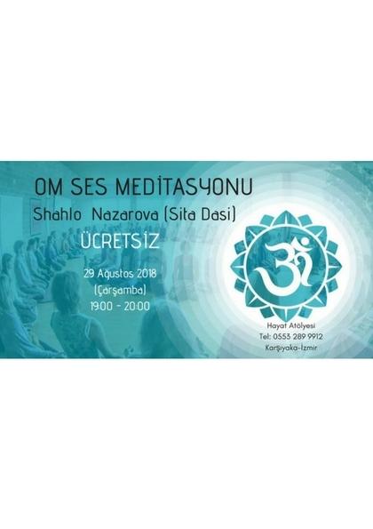 OM SES Meditasyonu Etkinlik Afişi