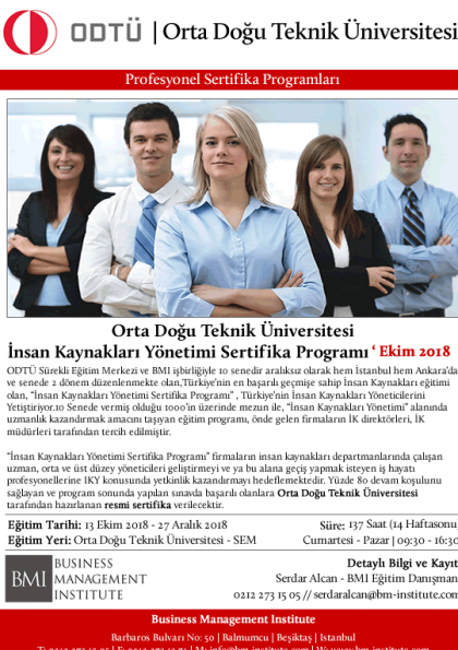 Orta Doğu Teknik Üniversitesi - İnsan Kaynakları Yönetimi Sertifika Programı Afişi