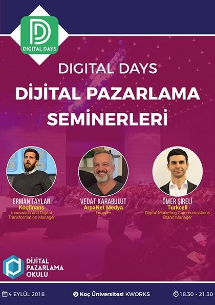 Digital Days - Dijital Pazarlama Seminerleri (ÜCRETSİZ) Etkinlik Afişi