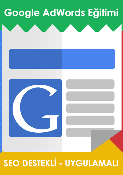 Google AdWords Eğitimi - SEO Destekli Afişi
