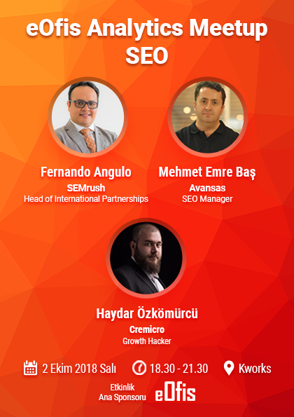 eOfis Analytics Meetup | SEO (Ücretsiz Etkinlik) Etkinlik Afişi