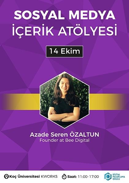 Sosyal Medya İçerik Atölyesi [İstanbul] Etkinlik Afişi