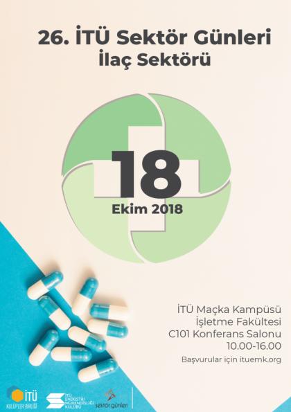 26. İTÜ Sektör Günleri İlaç Sektörü Etkinlik Afişi