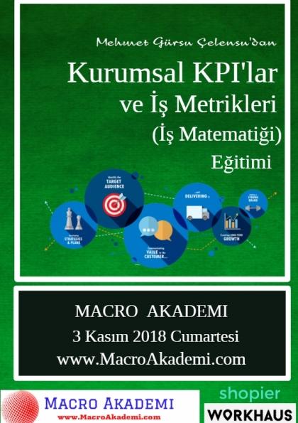 Kurumsal KPI'lar ve İş Metrikleri Eğitimi (İş Matematiği) Etkinlik Afişi