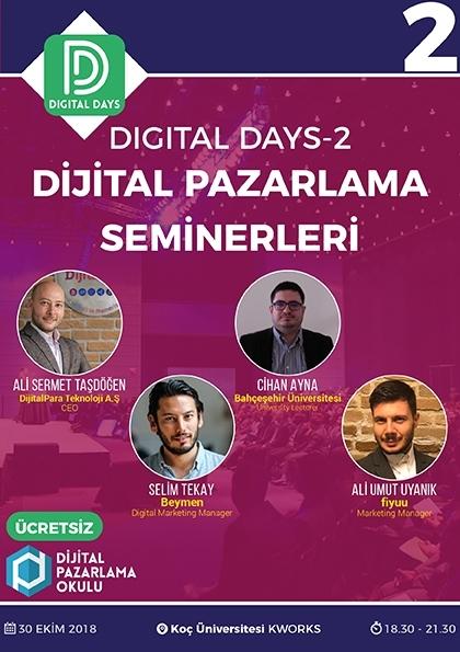 Digital Days 2 - Dijital Pazarlama Seminerleri (ÜCRETSİZ) Afişi