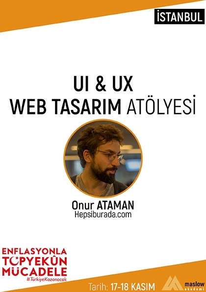 UI & UX Web Tasarım Atölyesi [İstanbul] Etkinlik Afişi